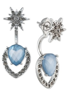 Jenny Packham Crystal Starburst & Floater Stone Drop Earrings