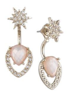 Jenny Packham Crystal Starburst & Floater Stone Drop Earrings