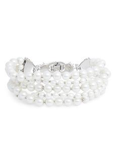 Jenny Packham Drama Imitation Pearl Bracelet