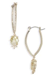 Jenny Packham Elongated Hoop Earrings