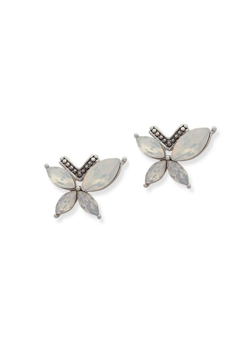 061e47485 Jenny Packham Jenny Packham Faceted White Opal Cluster Stud Earrings ...