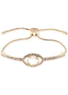 Jenny Packham Gold-Tone Crystal Slider Bracelet