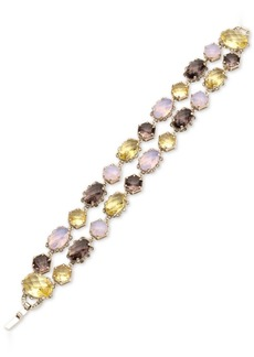 Jenny Packham Gold-Tone Multi-Stone Double Row Bracelet
