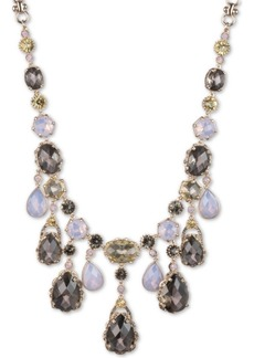 "Jenny Packham Gold-Tone Multicolor Stone Frontal Necklace, 16"" + 2-1/2"" extender"