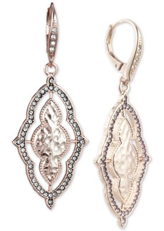 Jenny Packham Gold-Tone Pave Orbital Drop Earrings