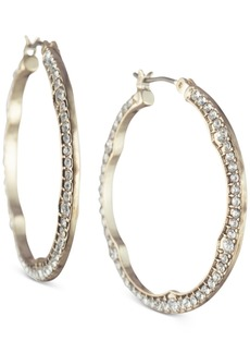 Jenny Packham Gold-Tone Pave Small Hoop Earrings s