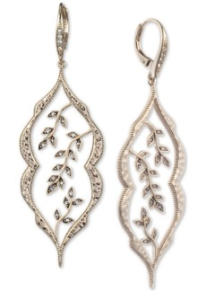Jenny Packham Gold-Tone Pave Vine Statement Earrings