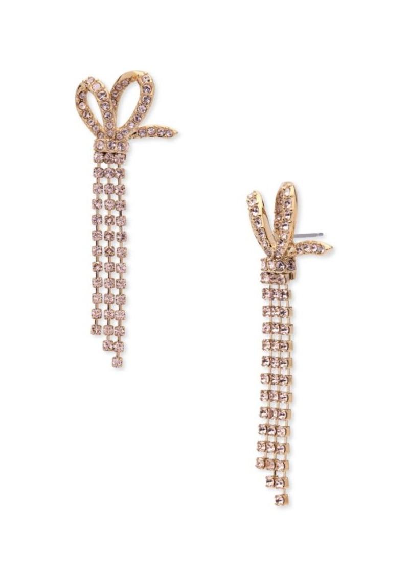 Jenny Packham Half Bow Stone Drop Earrings