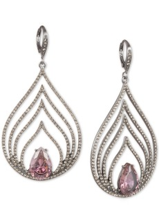 Jenny Packham Hematite-Tone Crystal & Stone Multi-Row Drop Earrings
