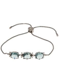 Jenny Packham Hematite-Tone Crystal & Stone Slider Bracelet