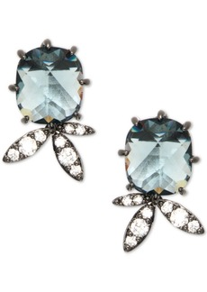 Jenny Packham Hematite-Tone Crystal & Stone Stud Earrings