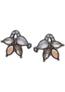 Jenny Packham Hematite-Tone Crystal Cluster Stud Earrings