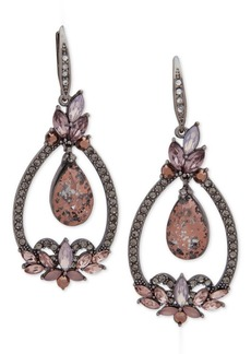 Jenny Packham Hematite-Tone Crystal Orbital Drop Earrings
