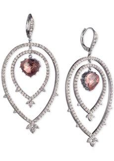Jenny Packham Hematite-Tone Pave & Stone Orbital Drop Earrings
