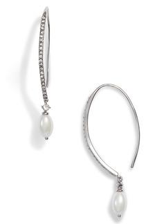 Jenny Packham Imitation Pearl Threader Earrings