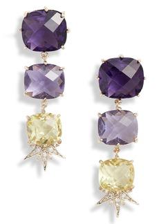 Jenny Packham Linear Stone Drop Earrings