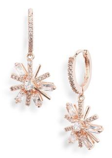 Jenny Packham Mini Pavé Crystal Drop Earrings