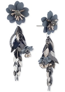 Jenny Packham Multi-Tone Flower Chain Linear Earrings
