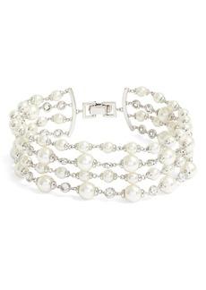 Jenny Packham Multirow Imitation Pearl Bracelet