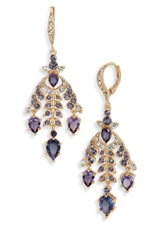 Jenny Packham Navette Petal Chandelier Earrings