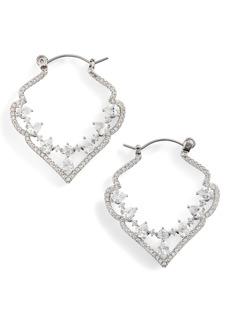 Jenny Packham Pavé Crystal Hoop Earrings