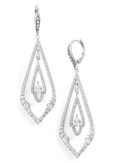 Jenny Packham Pavé Drop Earrings