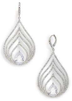 Jenny Packham Pavé Openwork Chandelier Earrings