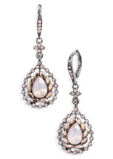 Jenny Packham Pavé Stone Teardrop Earrings