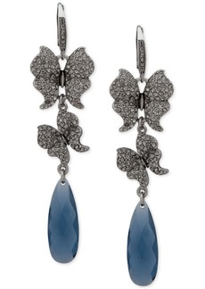 Jenny Packham Pave Butterfly & Stone Linear Drop Earrings