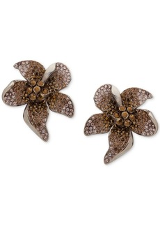 Jenny Packham Pave Flower Button Earrings