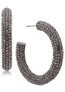 Jenny Packham Pave Large Open Medium Hoop Earrings