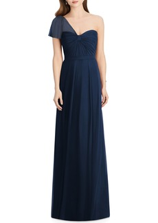 Jenny Packham Pleat One Shoulder Gown