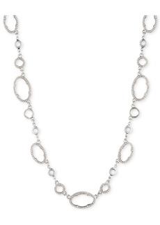 "Jenny Packham Silver-Tone Crystal Link Collar Necklace, 16"" + 2-1/2"" extender"