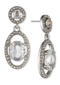 Jenny Packham Silver-Tone Crystal Orbital Drop Earrings