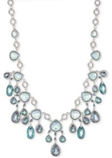 """Jenny Packham Silver-Tone Pave & Stone Statement Necklace, 16"""" + 2"""" extender"""