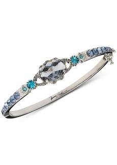 Jenny Packham Silver-Tone Stone Bangle Bracelet