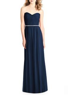 Jenny Packham Strapless Chiffon Gown
