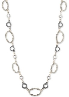 "Jenny Packham Two-Tone Pave Collar Necklace, 16"" + 2-1/2"" extender"