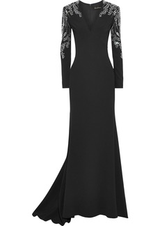 Jenny Packham Woman Crystal-embellished Cady Gown Black