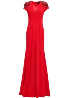Jenny Packham Woman Embellished Stretch-crepe Gown Red