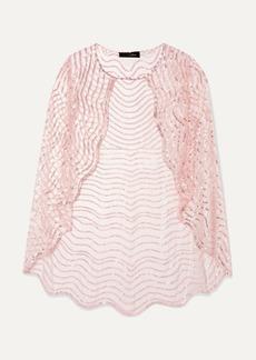 Jenny Packham Neva Sequin-embellished Tulle Cape