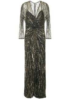 Jenny Packham sequin embroidered gown