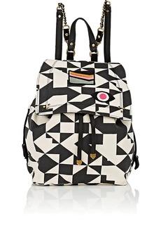 Jerome Dreyfuss Women's Florent Leather-Trimmed Canvas Backpack