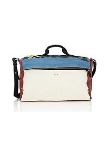 Jerome Dreyfuss Women's Raoul Leather-Trimmed Linen Shoulder Bag