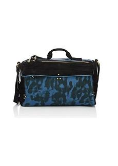 Jerome Dreyfuss Women's Raoul Suede-Trimmed Canvas Shoulder Bag