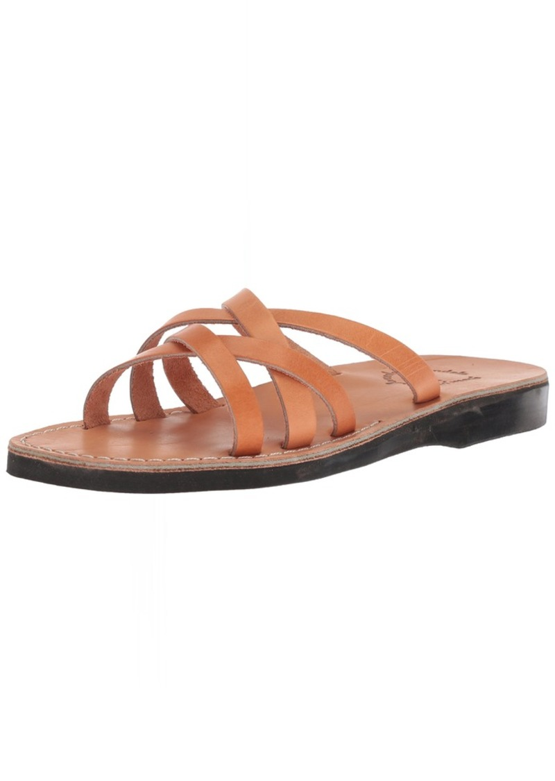 Jerusalem Sandals Men's GAD Slide Sandal tan 41 Medium EU ( US)