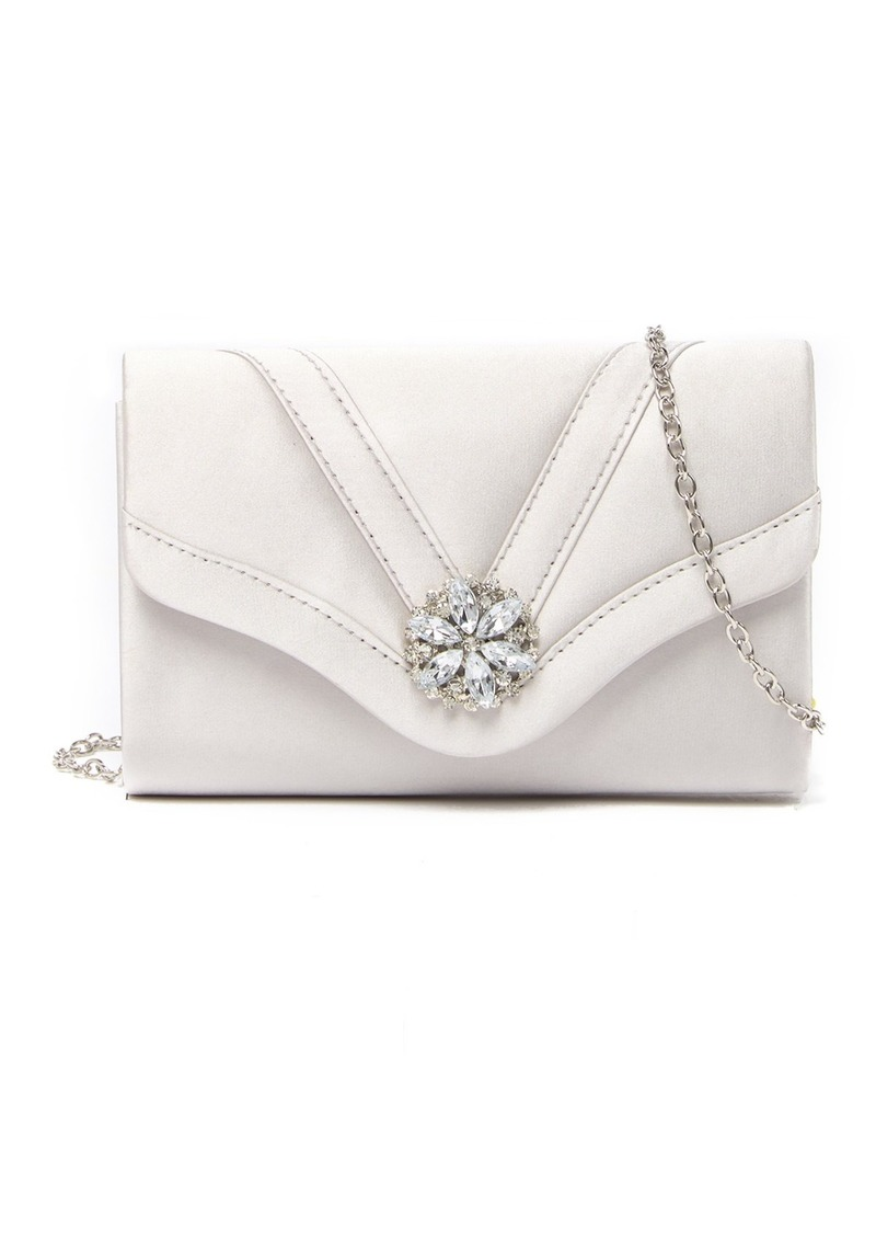 Jessica McClintock Alexis Embellished Satin Clutch
