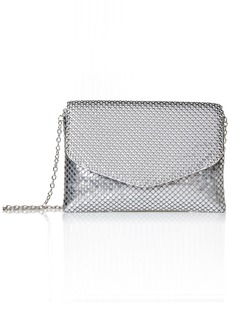 Jessica McClintock Brooklyn Envelope Mesh Clutch silver