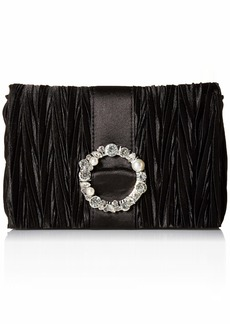 Jessica McClintock Women's Alisha Pleated Clutch w/Broach