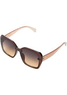 Jessica Simpson 59 mm Glittering UV Protective Square Sunglasses